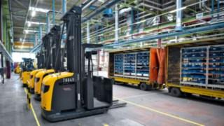 Linde-Fahrzeuge bei Heidelberger Druckmaschinen AG