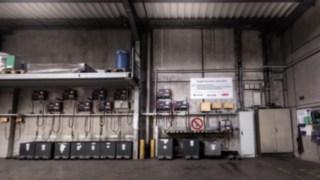 Sander Batterieladestation bei DB Schenker