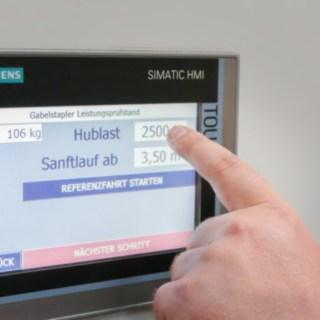 Prüfstand Kontroll-Panel mit Touch-Funktion