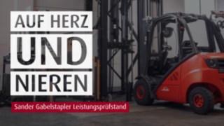 Video Sander Leistungspruefstand für Gabelstapler